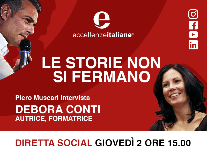 Debora Conti: una storia per vincere! Una storia per imparare! Live giovedì 2 Aprile su facebook. e nostri canali. Scopri di più.