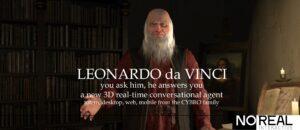 Leonardo da Vinci, l'agente di conversazione Cybro 3D.