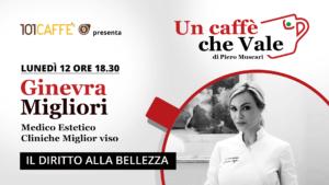 Ginevra Migliori è l'ospite della puntata #uncaffechevale di lunedì 12 ottobre