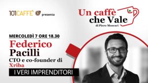 Federico Pacilli è l'ospite della puntata #uncaffechevale di mercoledì 07 ottobre