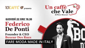 Federico De Ponti - un caffè che vale del 22 Ottobre