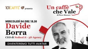 Davide Borra è l'ospite della puntata #uncaffechevale di mercoledì 04 novembre