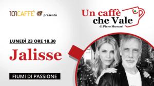 """Jalisse, duo musicale italiano, è l'ospite della puntata """"un caffè che vale"""" del 23 Novembre."""