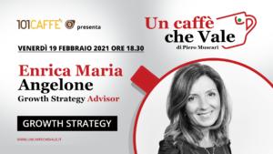 """Growth strategy è il tema della puntata """"un caffè che vale"""" del 19 Febbraio con Enrica Maria Angelone"""