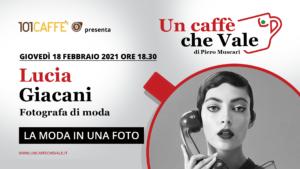 La moda in una foto …con Lucia Giacani ne parliamo nella prossima puntata un caffè che vale di Giovedì 18 febbraio